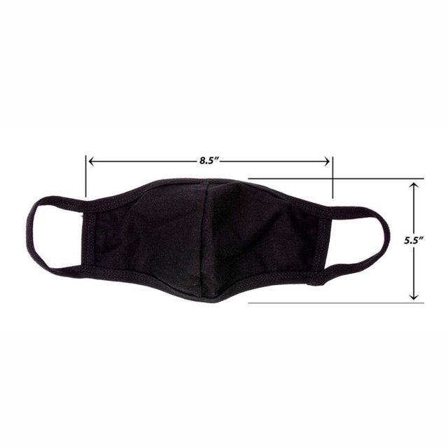 Unisex Mouth Mask Adjustable Anti Dust Face Mouth Mask,Black Cotton Face Mask For Cycling Camping Travel J 4