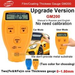 GM200A BENETECH grubościomierze samochodów grubość powłoki farby farby grubość pomiaru zorganizować 0 1.80mm0 71.0mil Mierniki ultradźwiękowe Narzędzia -