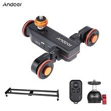 Andoer Kamera Video Dolly Slider Kit mit 3-rad Auto Dolly Auto + 60cm Schiene Kamera Slider für DSLR Kamera Camcorder