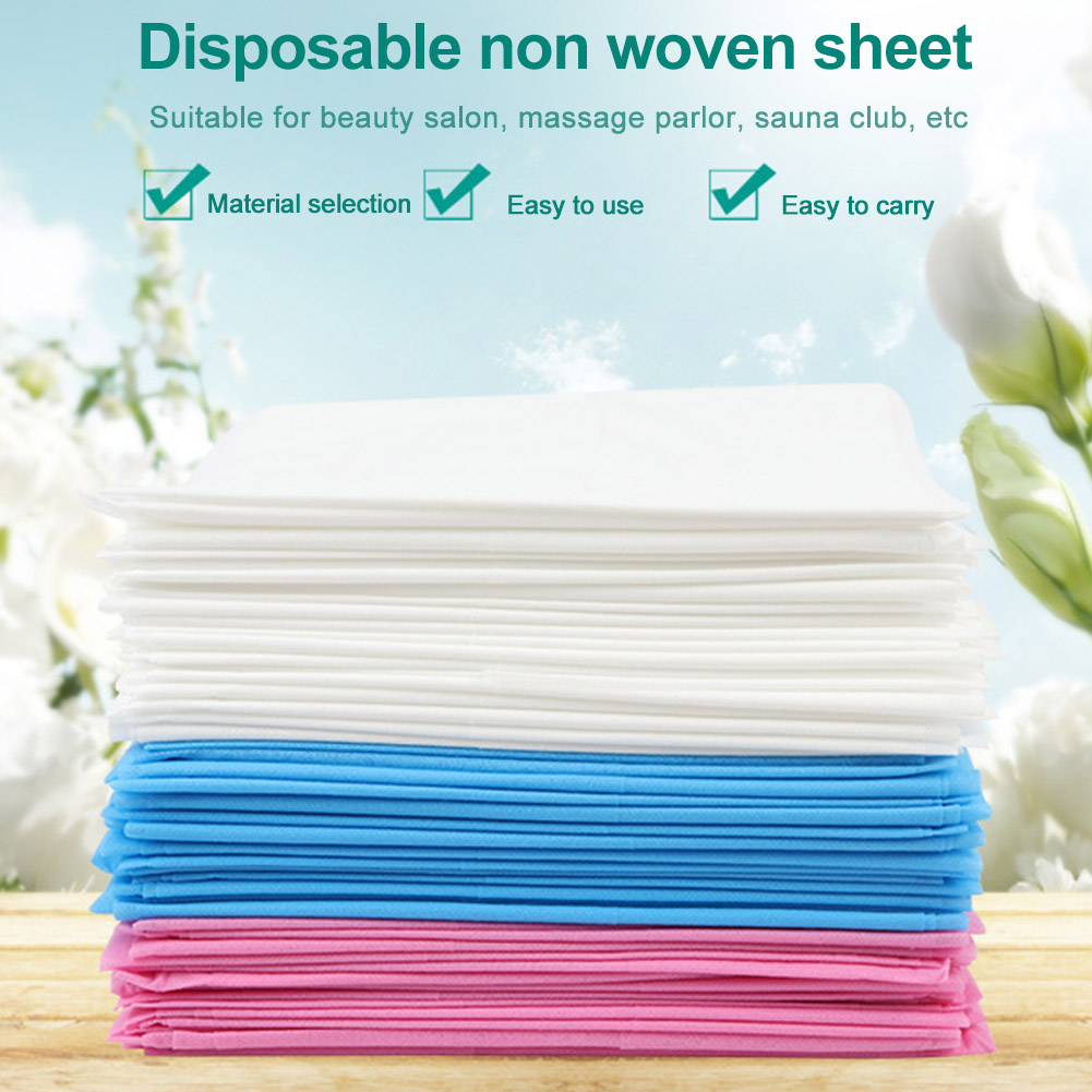 10pcs 80x180cm Disposable Sheets Breathable Solid Salon Tattoo For Massage Bed Table Cover Spa Business Trip Travel Non-woven
