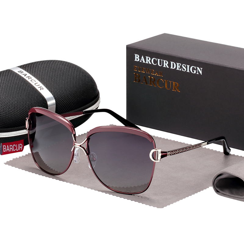 BARCUR Gradient Sun glasses Women Polarized Sunlgasses for Women trending products