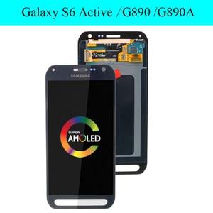 Image 2 - מקורי AMOLED 5.1 LCD תצוגה עבור Samsung Galaxy S6 פעיל G890 G890A LCD עם מסך מגע Digitizer החלפת חלקים