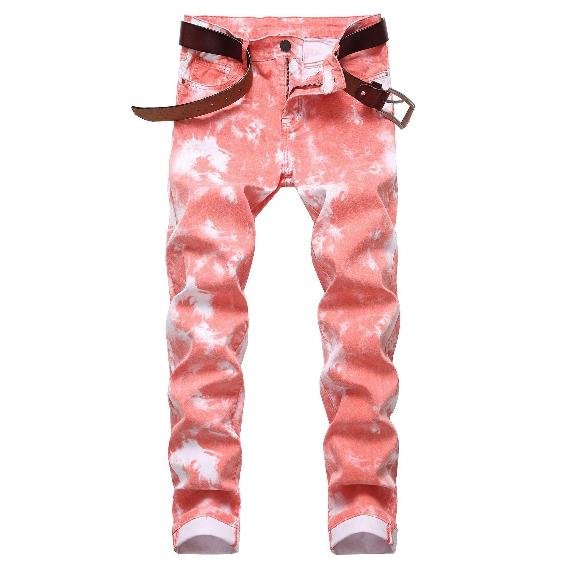 2020 Men Colored Jeans Mens Skinny Elastic Slim Straight Biker Jeans Male Denim Casual Cotton Pants Vaqueros Hombre Plus Size 42