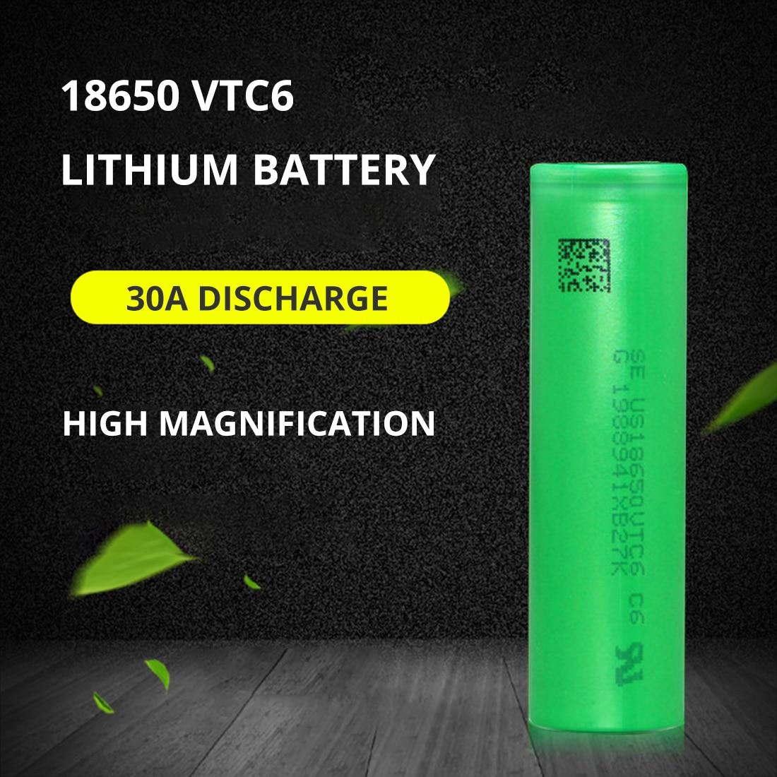 100% Новый оригинальный 3,7 в 3000 мАч литий-ионный перезаряжаемый аккумулятор 18650 для us18650 vtc6 20A 3000 мАч для Sony Игрушки Инструменты фонарик