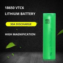 100% original novo 3.7v 3000 mah li ion recarregável 18650 bateria para us18650 vtc6 20a 3000 mah para sony brinquedos ferramentas lanterna