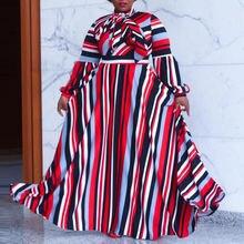 В африканском стиле размера плюс платье 4xl 5xl для женщин красно