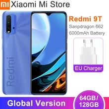 2021 глобальная версия Xiaomi Redmi 9T Mobile 4GB оперативной памяти, 64 Гб встроенной памяти/128 ГБ ROM, львиный зев 662 6000 мАч батарея 48MP тыловая камера 6,53 ''Full ...