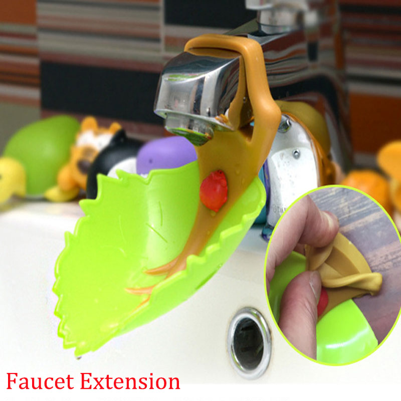 2pcs Leaves Faucet Extension Children's Guide Sink Hand Sanitizer Handwashing Tools Cartoon Extension Of The Water Bathroom