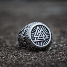 Odin Valknut Symbol Stainless Steel Ring Men Viking Runes Warrior Rings Norse Amulet Jewelry