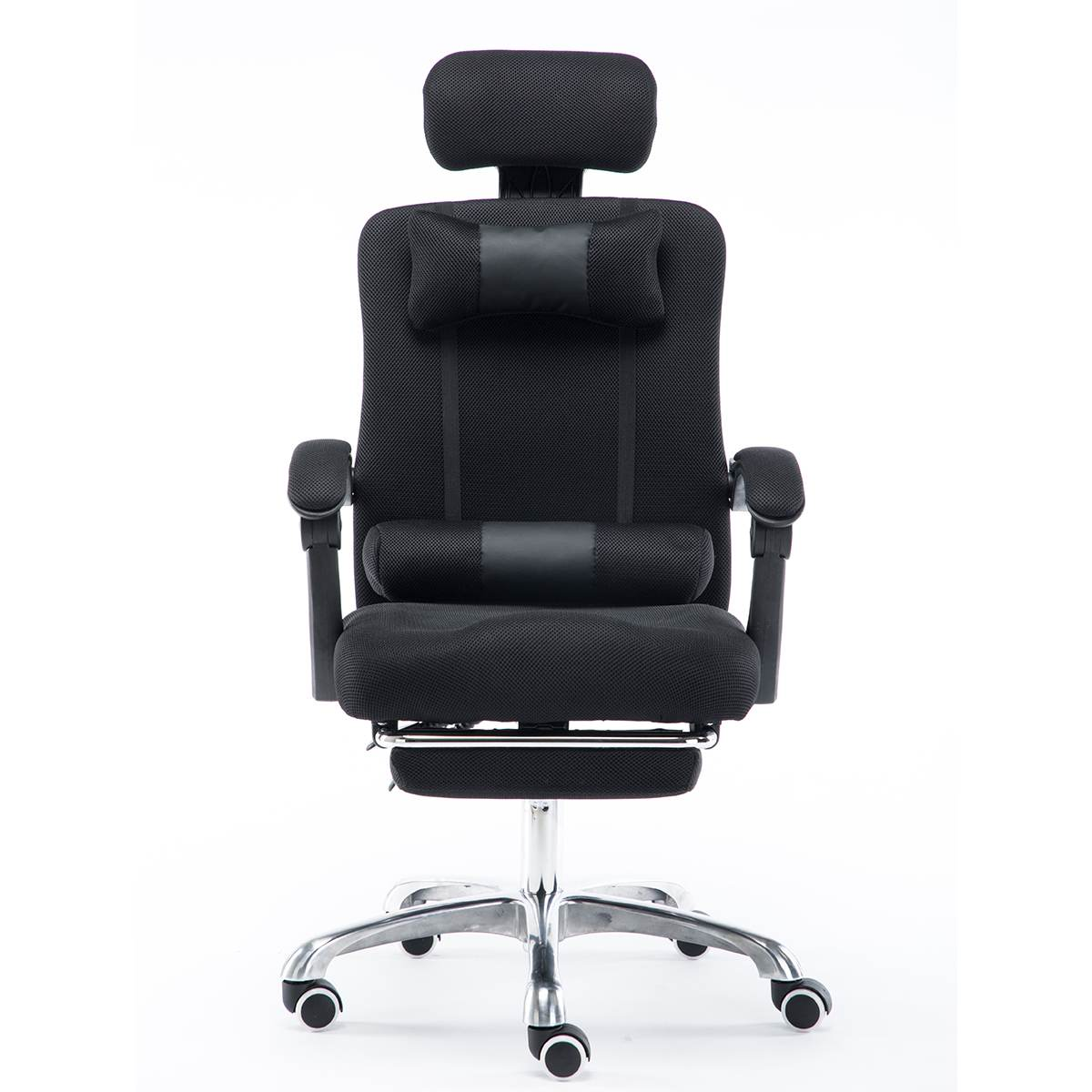 Mesh Computer Chair Lacework Office Chair Lying And Lifting Staff Armchair With Footrest Comfortable Executive Office Chair