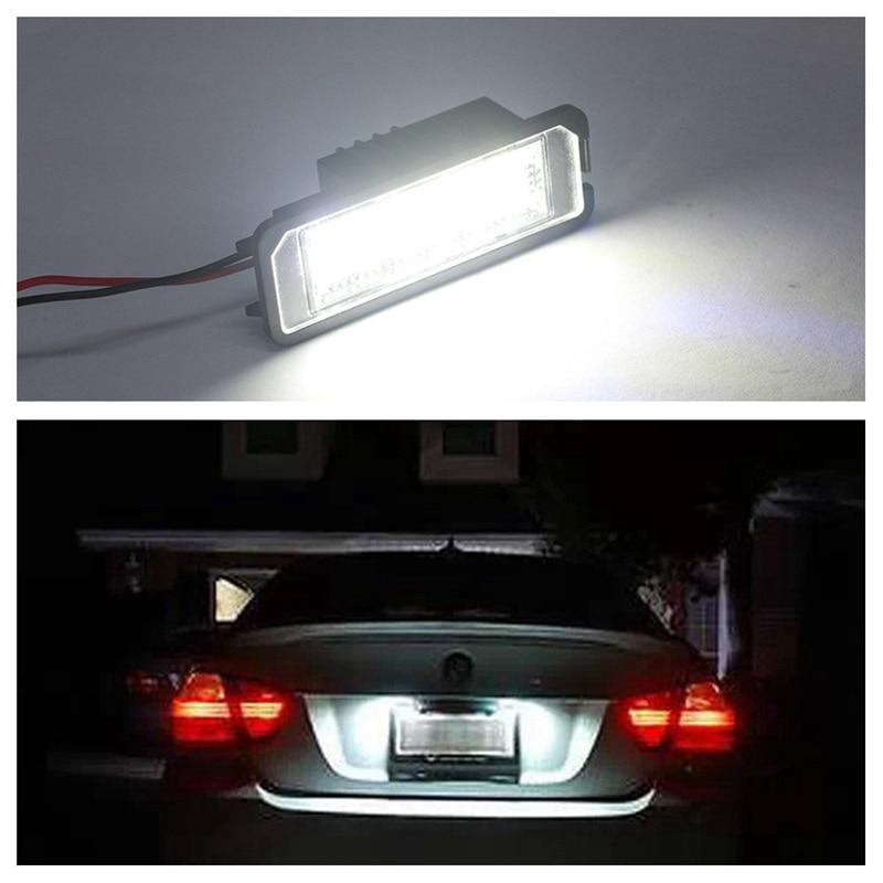 2Pcs 12V Number License Plate Light Lamps for GOLF 4 5 6 7 Car License Plate Lights Exterior Accessories