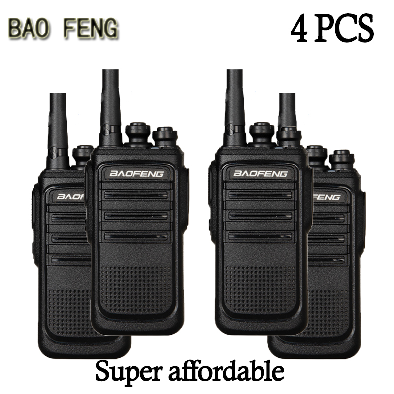 (4PCS) BAOFENG Walkie-talkieHotel Construction Site Outdoor Occasions Communicator HF Transceiver Amateur Handy Transceiver