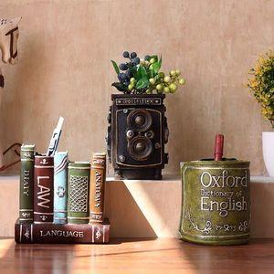 Image 3 - Sharkbang organizador de mesa, porta canetas vintage, de resina, organizador de mesa, ornamentos de papelaria para escola