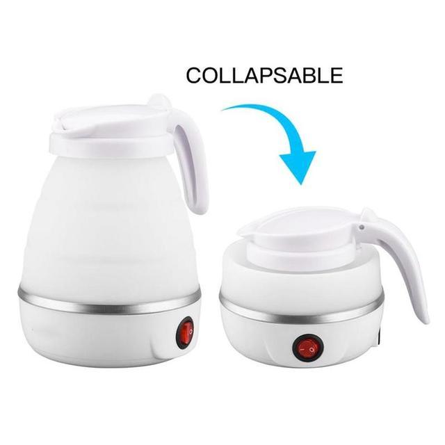 Купить силиконовый складной электрический чайник для кухни термос путешествий картинки