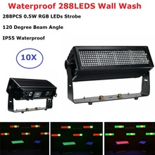 Waterproof 105W LED Strobe Light 288 LEDS RGB Flash DMX Control Dj Wall Wash For Party Laser Projector