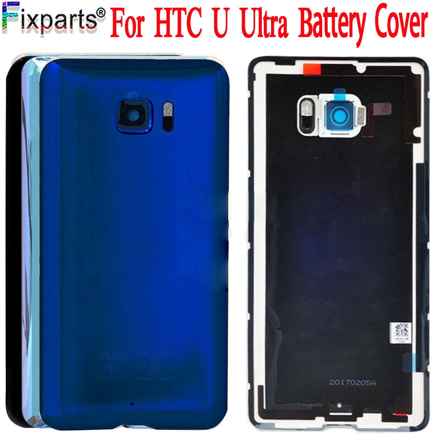 Original 5.7For HTC U Ultra Back Cover Door Rear Glass Housing Case For HTC U Ultra Battery Cover With Camera Lens Free Shopping