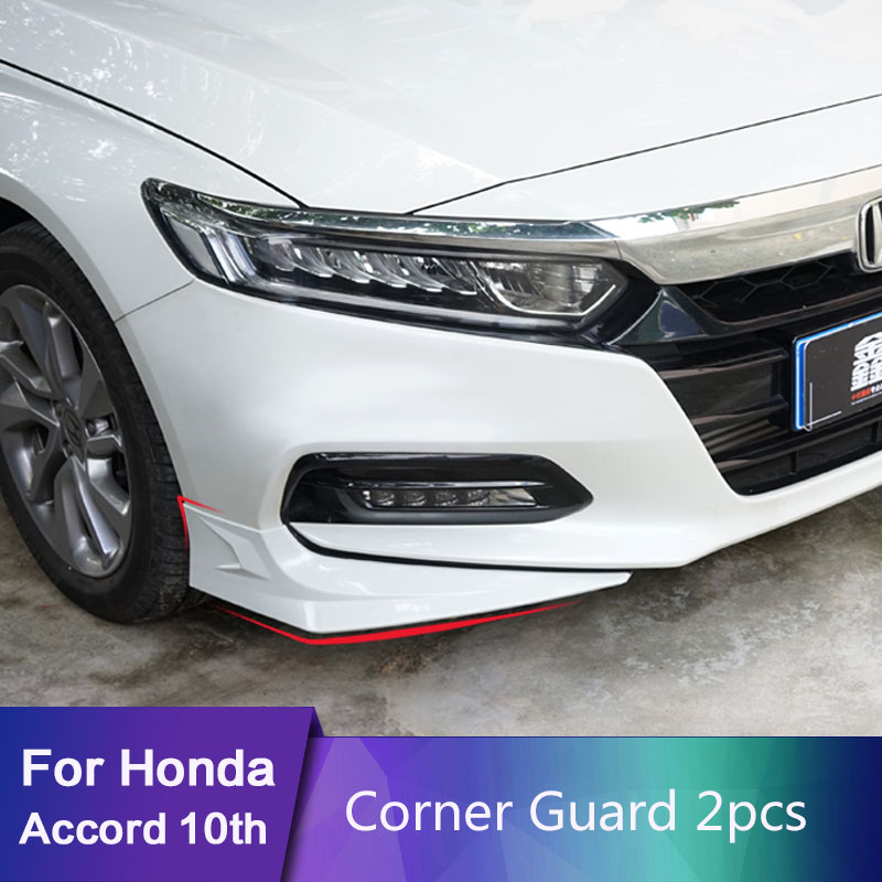 For honda accord 10th 2018 2019 Inspire Refit of front corner protection front bar anti-collision and anti friction strip