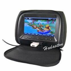 """Uniwersalny 7 """"ekran dotykowy monitor montowany za zagłówkiem samochodu MP5 odtwarzacz poduszka dodatkowy monitor AV/wejście USB/SD/FM/głośnik/słuchawek/Bluetooth w Monitory samochodowe od Samochody i motocykle na"""