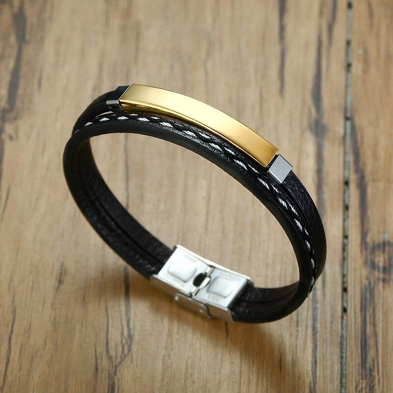 Bracelet en acier inoxydable pour hommes et femmes d'affaires, breloque avec nom personnalisé, bracelet cubain à longueur ajustable, cadeau pour garçon et femme 5