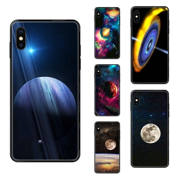 Buying Nebula Stars In Universe Infinity Love Black Soft Painted Cover Phone Case For Apple iPhone 5 5C 5S SE SE2020 6 6S 7 8 image