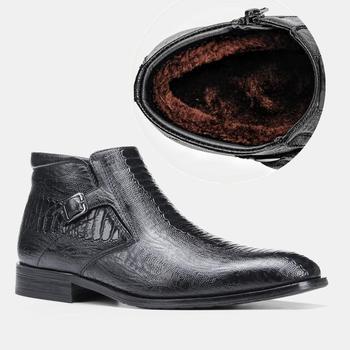 40-46 мужские ботинки зимние удобные нескользящие 2020 теплые мужские зимние ботинки