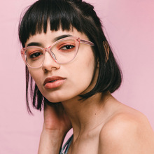 MINCL/ винтажные женские кошачьи очки для близорукости очки для женщин, студенческие компьютерные оптические очки с коробкой NX