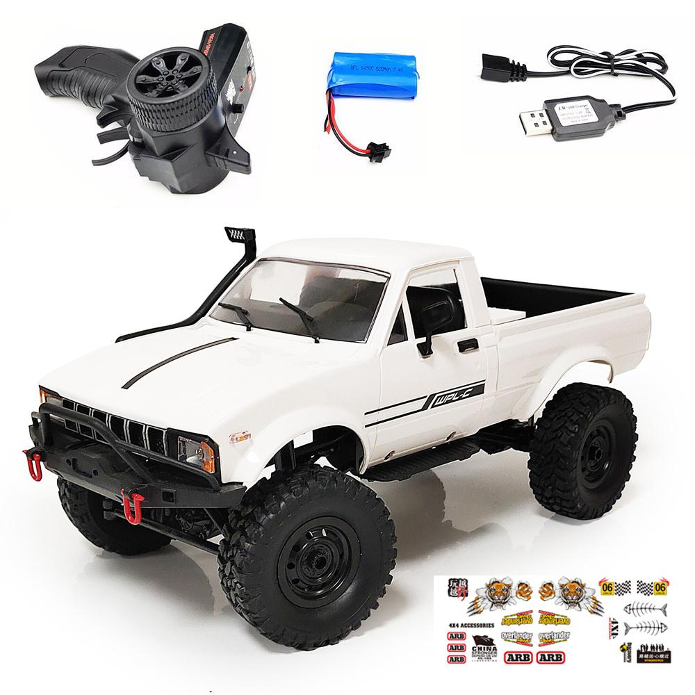 WPL C24-1 4WD 1:16 RC Car 2.4G RC Proportional Control Crawler Off-road Car Buggy with LED Head Light Battery Powered Cars RTR