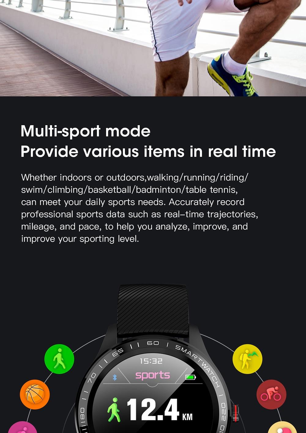Hc027bed8ccfa47da83668f1d787049fbS 696 L9 Full touch Smart Watch Men ECG+PPG Heart Rate Blood Pressure oxygen Monitor IP68 Waterproof Bluetooth Smart Bracelet