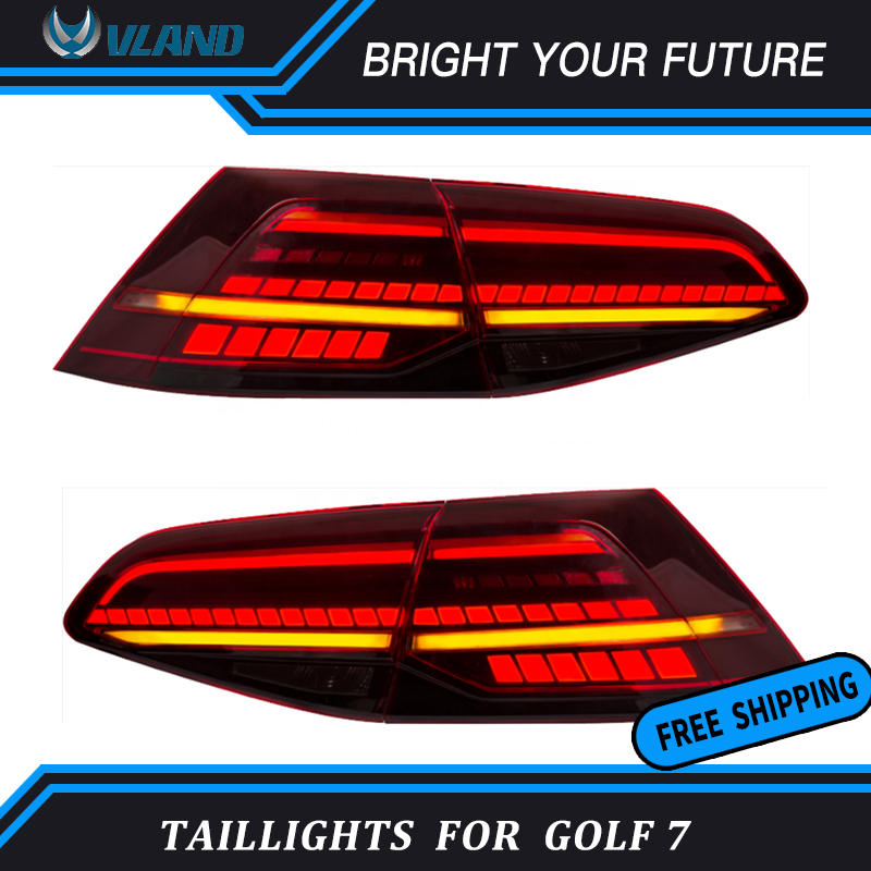Car LED Rear Lamps For Volkswagen Golf 7 MK7 LED Dynamic Tail Lights 2013~2019