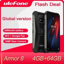 Ulefone Armor 8 sağlam cep telefonu Android 10 Helio P60 4GB + 64GB Octa çekirdek 6.1 inç su geçirmez akıllı telefon