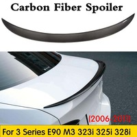 Carbon Fiber Rear Spoiler Trunk Lip Wing for BMW E90 3 Series Sedan 323i 325i 328i 335i 335i & M3 Spoiler 2006-2011