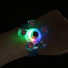 Bracelet Wrist-Band Glow-In-The-Dark-Toys Luminous Cartoon-Lights Kids LED for Gyro Rotating
