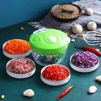 가정용 수동 식품 쵸퍼 야채 커터 쵸퍼 슈레더 마늘 프레스 고기 프로세서 기계 크러셔 블렌더 주방 도구