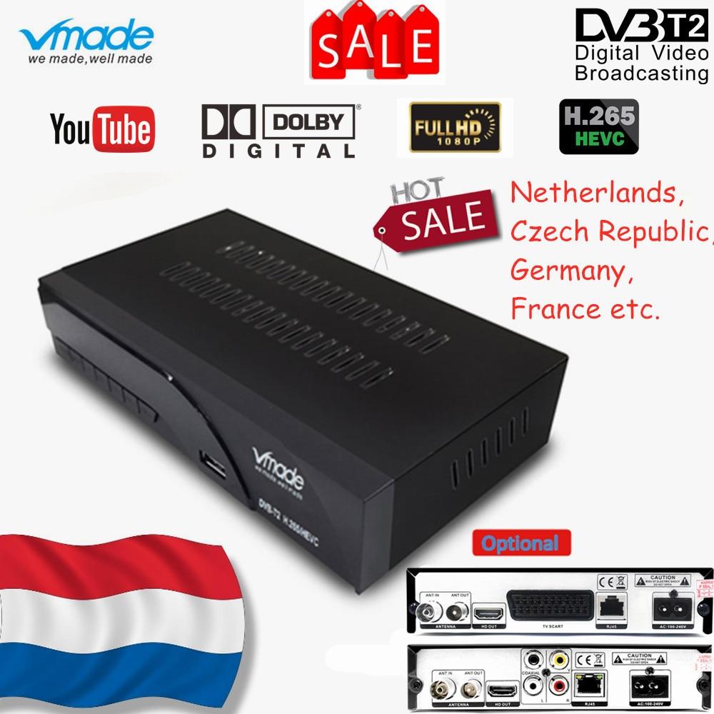 Vmade Newest DVB T2 K6 Scart/AV Digital Terrestrial TV Receiver Tuner Support H.265/HEVC HD Have Sound 1080p DVB T2 Set Top Box