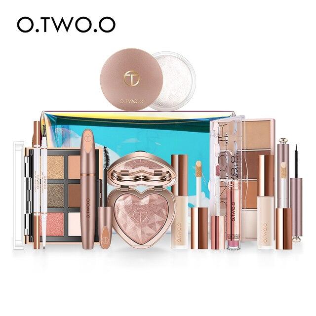 O.TWO.O 11 unids/set maquillaje Kit incluye colorete sombra de ojos corrector Contorno de destacar Mascara de delineador de ojos en polvo suelto 1