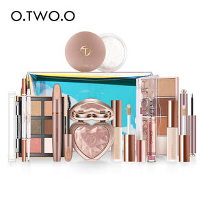 O.TWO.O 11pcsset Full Makeup Kit Include Eye Shadow Blusher Concealer Contour Highlight Mascara Eyebrow Eyeliner Loose Powder