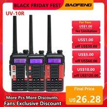Baofeng UV-10R walkie talkie 10w 5800mah vhf uhf banda dupla em dois sentidos cb rádio presunto uv 10r portátil usb carregamento transceptor de rádio