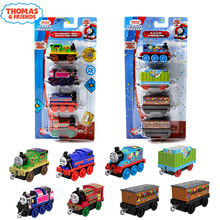 4pcs Thomas and Friends Mini Cartoon Trains Metal Magnetic Train Set Diecast Model Car Toys for Boys Educational Brinquedos Gift стоимость