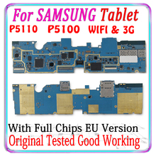 100% Original For Samsung Galaxy Tab 2 10.1 P5100 3G P5110 WIFI Motherboard EU Version Logic board With chips Android Plate MB