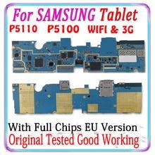 จัดส่งฟรีสำหรับSamsung Galaxy Tab 2 10.1 P5100 3G P5110 WIFIเมนบอร์ดรุ่นEU Logic Boardชิปแผ่นMB