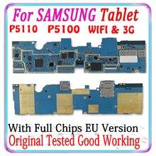 Spedizione gratuita originale per Samsung Galaxy Tab 2 10.1 P5100 3G P5110 scheda madre WIFI versione ue scheda logica con chip piastra MB