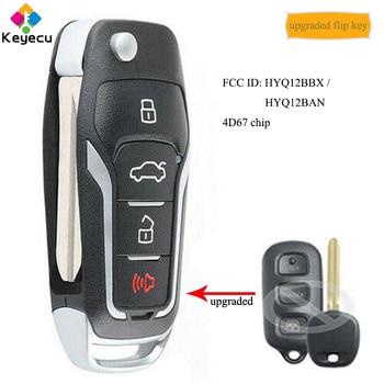 KEYECU-clé de télécommande mis à niveau   Avec 4 boutons, 4D67, puce pour Toyota 4 Runner 2003-2009, Sequoia 2004-2007, HYQ12BBX