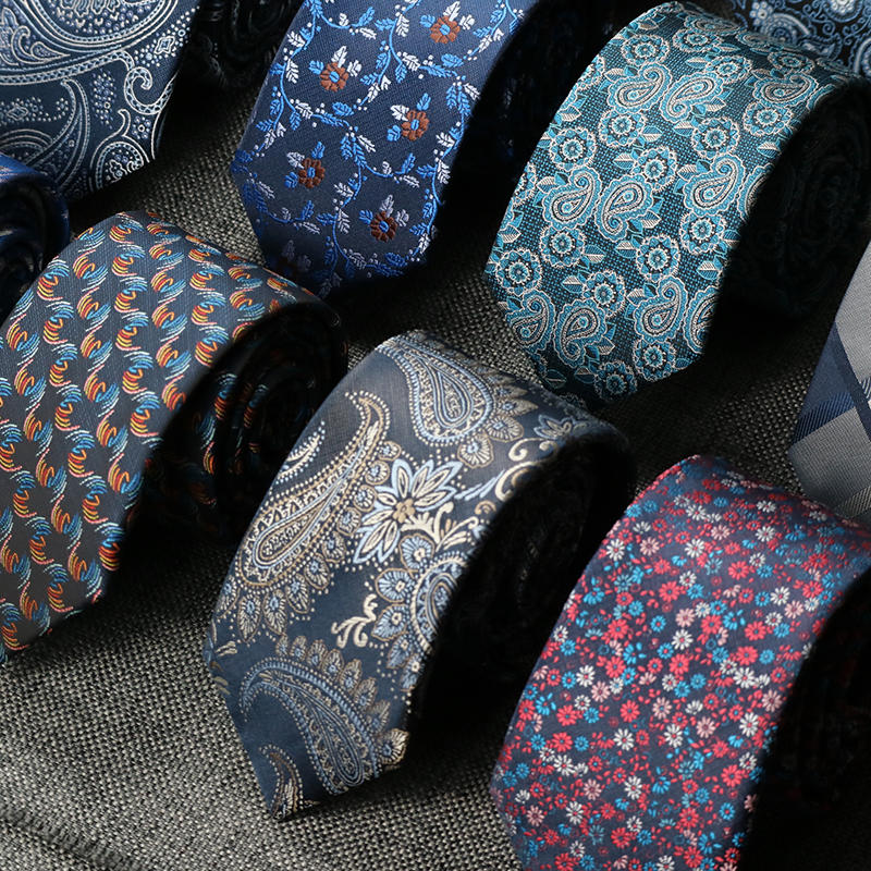 7CM Ties For Men Floral Necktie Paisley Gravata Corbatas Formal Mens Ties Cravate Homme Gift For Men Tie Wedding Business Party