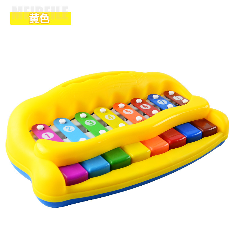 Mei Bei Raku Can Play Toy Piano Infant Young CHILDREN'S Baby Music Toy Aged 1-2 Years 3 Octave Knock Piano Toy