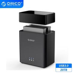 Carcasa de disco duro ORICO DS Series 2 Bay tipo magnético 3,5 pulgadas USB3.0 20TB soporte máximo UASP 12V4A Power 5Gbps HDD recinto