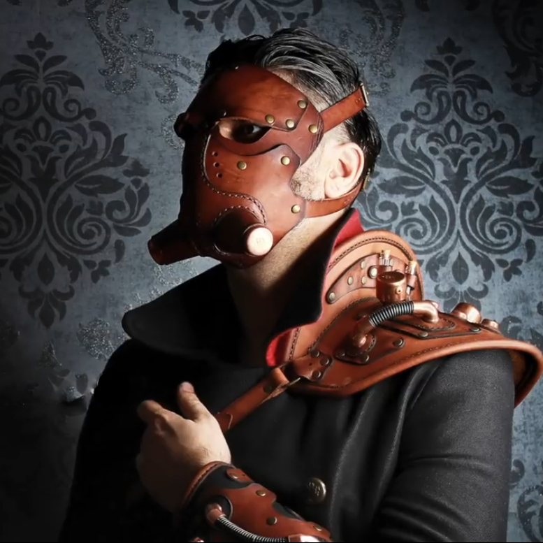 Handmade Leather Material Package Steampunk Mounted Police Mask Helmet Material Handmade Semi-finished Leather Goods