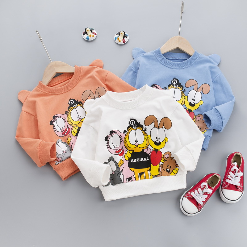 BOY'S Spring Clothing Pure Cotton Hoodie 2020 Spring New Style Children Pullover 1-3 Years Old Baby Handsome Tops