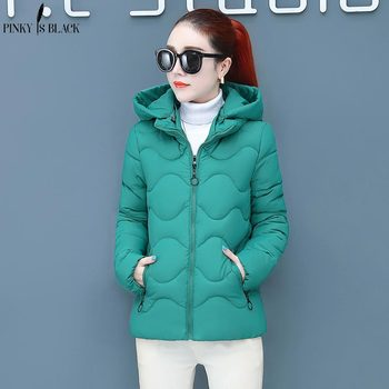 PinkyIsBlack Thicken Winter Women Short Parkas 2020 New Casual Hooded Jacket Warm Cotton Padded Coat