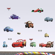 Disney cartoon Cars Lightning McQueen DIY 3D view wall stickers for kids Boy room bedroom accessories Home decoration mural