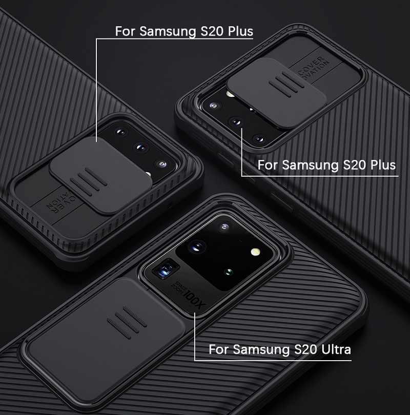 NILLKIN Samsung Galaxy not için 20 Ultra S20 Ultra artı A71 A51 5G arka kapak durumda kamera koruma huawei Mate 30 P40 Pro